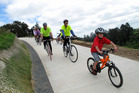 Cyclists on the Waikato Karapiro section of the Te Awa cycle trail. Photo / Supplied