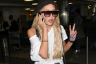 Amanda Bynes is seen at LAX on October 10, 2014. Photo / Getty
