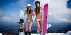 View: Bikini skiing for breast cancer
