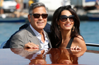 Mr and Mrs Clooney. Photo / AP