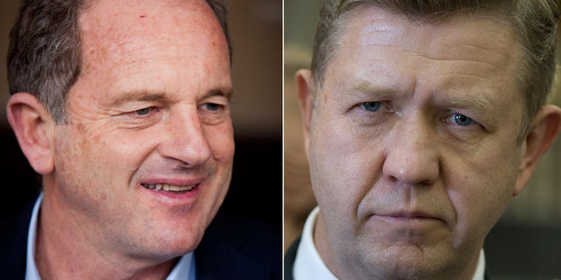 David Shearer, left, believes it's time his former boss and successor David Cunliffe quits Parliament altogether. Photo / NZ Herald