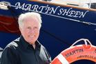Martin Sheen alongside a Sea Shepherd vessel named after him. Photo / Getty