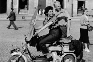 Marti and Gerrard during their honeymoon in Warsaw, Poland. Taken in 1957. Photo / Marti Friedlander