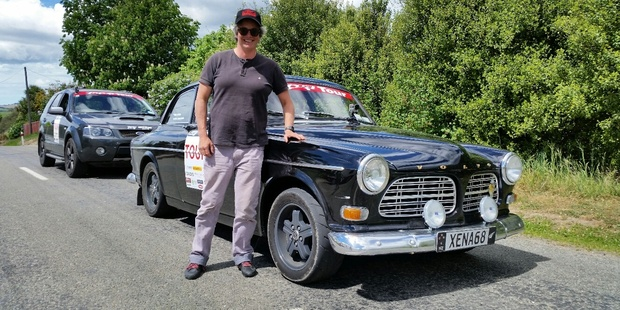 Jo Worth with the Volvo Amazon she will share with her mother in the Peking to Paris Motor Challenge in 2016.