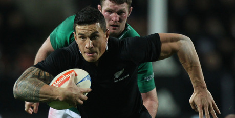 Sonny Bill Williams of the All Blacks in action. Photo / Getty Images