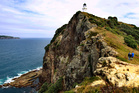 The lighthouse on Burgess Island in the Mokohinau group. Photo / Steven McNicholl