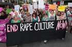Protesters marched against New Zealand's 'rape culture' last year after the Roast Busters case went public. Photo / Doug Sherring