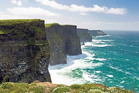 The dramatic Cliffs of Moher, overlooking the north Atlantic Ocean, on Ireland's wild west coast. Photo / Getty Images