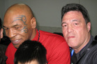 John Glozier and Mike Tyson this year. Photo / Boxing Socialist