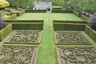 Trott's Garden has 3ha of formal plantings, including this knot design. Photo / Supplied