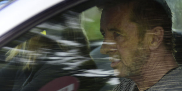 Phil Rudd leaving the Tauranga District Court today. Photo / George Novak
