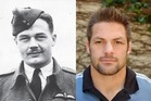Richie McCaw and his grandfather Lieutenant James Hugh McCaw.