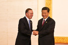 John Key will host Chinese President Xi Jinping next week in New Zealand. Picture / AP