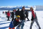Roundhill Skifield is the perfect place for families. Photo / Simon Louisson