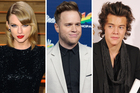 Taylor Swift, Olly Murs and Harry Styles. Photo / Getty Images