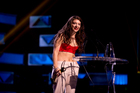 Lorde wins International Achievement Award during the Vodafone New Zealand Music Awards. Photo / Dean Purcell.