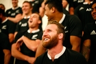 Kieran Read is clearly a long-term All Black captain-in-waiting but is happy to play a supporting role for as long as Richie McCaw has the job. Photo / Getty Images