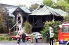 The scene of a fatal house fire that left three dead in Hamilton last Saturday. Photo / Doug