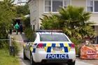 The scene of a driveway accident at Mayburn Road in Te Atatu. Photo / Jason Oxenham.