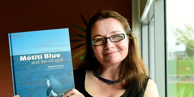 Debbie McCauley's at the launch of her children's book Motiti Blue. Photo/file