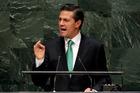 Mexican President Enrique Pena Nieto. Photo / AP