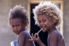 Village children in Honiara. Photo / Alan Gibson