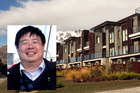 Chinese billionaire Jiang Zhaobai, insert, is the new owner of the Hilton Hotel in Queenstown. Photo / NZME.