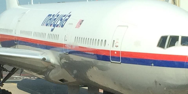 Malasian Airlines flight MH17 at Amsterdam Airport before its fateful journey over the Ukraine. Photo / Supplied