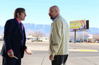 Saul Goodman (Bob Odenkirk) and Walter White (Bryan Cranston) in a scene from Breaking Bad. Photo / Ursula Coyote/AMC