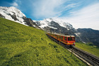 The famous Jungfrau Railway cogwheel train. Photo / Switzerland Tourism