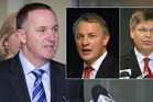Prime Minister John Key, Former Labour Leader Phill Goff and Dr Warren Tucker.