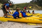 Waitawa Beach is one of the stops on the Te Ara Moana kayak trail. Photo / Auckland Council