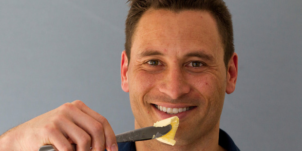 Butter enthusiast Jay Harrison says high-fat, low-carb diets work. Photo / Jason  Oxenham