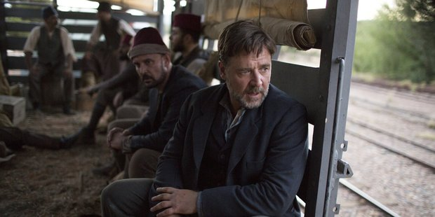 Loading Russell Crowe in The Water Diviner.