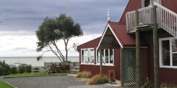 Clifton Bay Cafe at Te Awanga in Hawkes Bay has stunning panoramic views from the Kaweka Ranges to Napier's Bluff Hill and up to Mahia Peninsula. Photo / Supplied