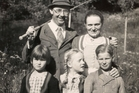 Family man Heinrich Himmler with his wife, son, daughter and a friend of his daugher (front left). Photo / AP