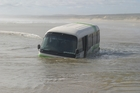 GOING NOWHERE: The submerged bus on Ninety Mile Beach.PHOTO/FILE