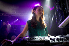 DJ Jacinda Ardern on stage in the Red Bull Thunderdome at Laneways Festival. Photo / Sarah Ivey