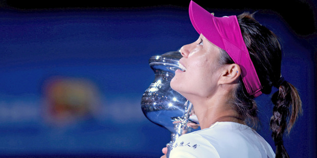 Li Na won her second grand slam in straight sets last night. Photo / Getty