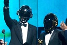 Thomas Bangalter and Guy-Manuel de Homem-Christo of Daft Punk accept the Best Pop Duo/Group Performance award for 'Get Lucky'. Photo / Getty Images