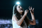 Lorde performing onstage before her big two Grammy wins. Photo / Getty Images