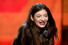 Lorde accepts the Best Pop Solo Performance award for 'Royals' onstage at the Grammys. Photo / Getty Images