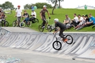 Tributes to keen BMX rider Ben Brown were made during an informal gathering of his friends at the Whangarei skate park after his death. Photo/Michael Cunningham