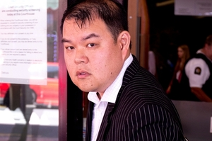 John Chow leaving the Auckland District Court on Wednesday. Photo / Dean Purcell