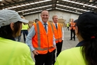John Key meets workers at the Verda factory in Rotorua yesterday. Photo / Stephen Parker