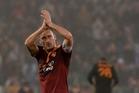 Francesco Totti salutes fans after the win. Photo / AP