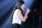 Lorde performs Royals at the Grammys. Photo / AP
