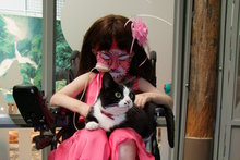 Starship patient Claudia Chaney with her cat Crystal.