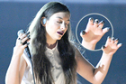 Lorde's black-tinted fingers are under the fashion spotlight. Photo / Getty Images