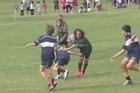 A video of 10-year-old Pakuranga player Chicago Doyle showing off his impressive skills in a sevens games has gone viral. Courtesy: YouTube/Viggo Rasmussen